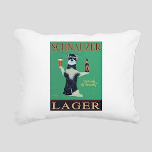 Schnauzer Lager Rectangular Canvas Pillow