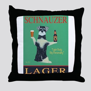 Schnauzer Lager Throw Pillow
