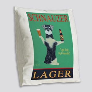 Schnauzer Lager Burlap Throw Pillow