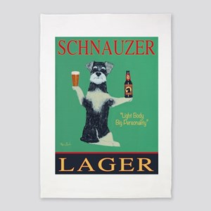 Schnauzer Lager 5'x7'Area Rug