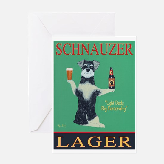 Schnauzer Lager Greeting Card