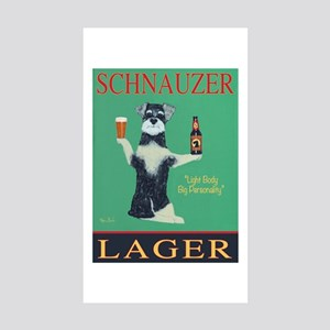 Schnauzer Lager Sticker (Rectangle 10 pk)
