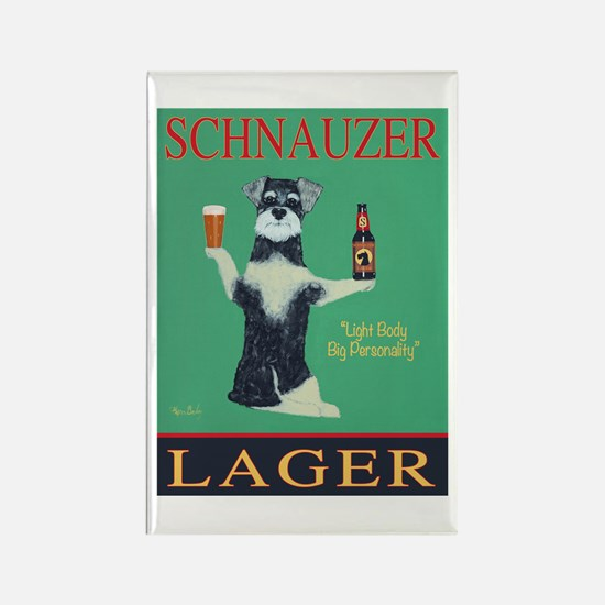 Schnauzer Lager Rectangle Magnet