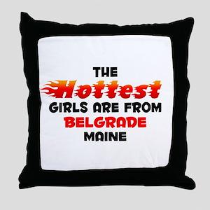Hot Girls: Belgrade, ME Throw Pillow