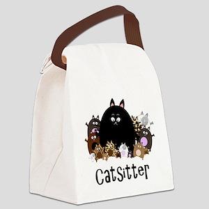 catSitter Canvas Lunch Bag