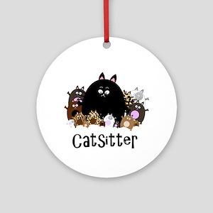 catSitter Round Ornament