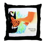 I Thee Wed Throw Pillow