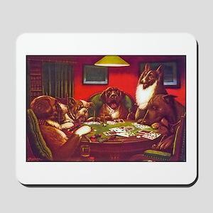 Dogs Playing Poker Waterloo Mousepad