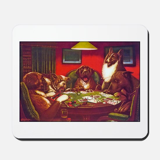 Dogs Playing Poker Waterloo Mousepad