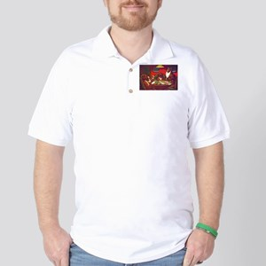 Dogs Playing Poker Waterloo Golf Shirt