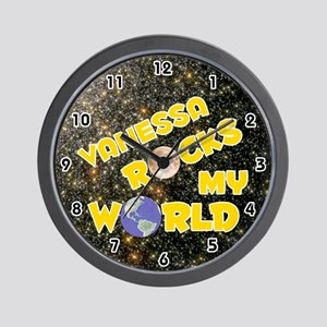 Vanessa Rocks My World (Gold) Wall Clock
