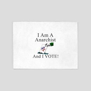 I Vote Anarchist 5'x7'Area Rug