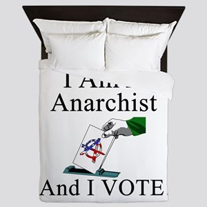 I Vote Anarchist Queen Duvet