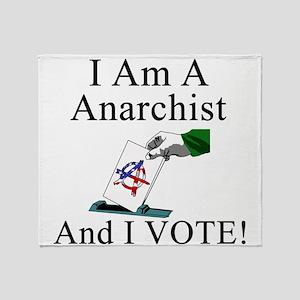 I Vote Anarchist Throw Blanket