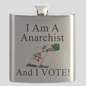 I Vote Anarchist Flask