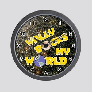 Wally Rocks My World (Gold) Wall Clock