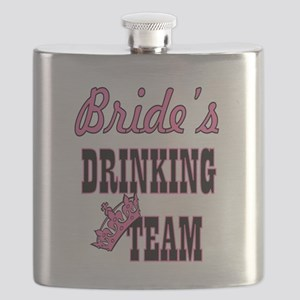 bride drinking team bachelorette party Flask