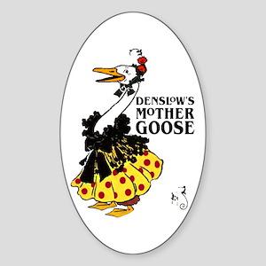 DENSLOW'S Mother Goose Oval Sticker