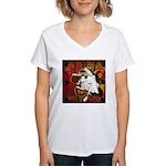 Cat Taurus Women's V-Neck T-Shirt