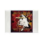 Cat Taurus Rectangle Magnet