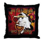 Cat Taurus Throw Pillow