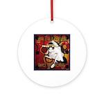 Cat Taurus Ornament (Round)