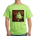 Cat Taurus Green T-Shirt