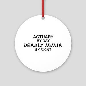 Actuary Deadly Ninja Ornament (Round)
