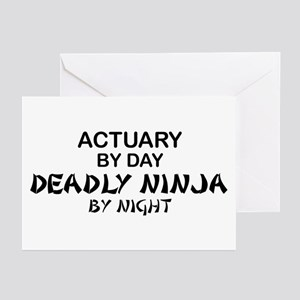 Actuary Deadly Ninja Greeting Cards (Pk of 10)