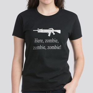 here, zombie Women's Dark T-Shirt