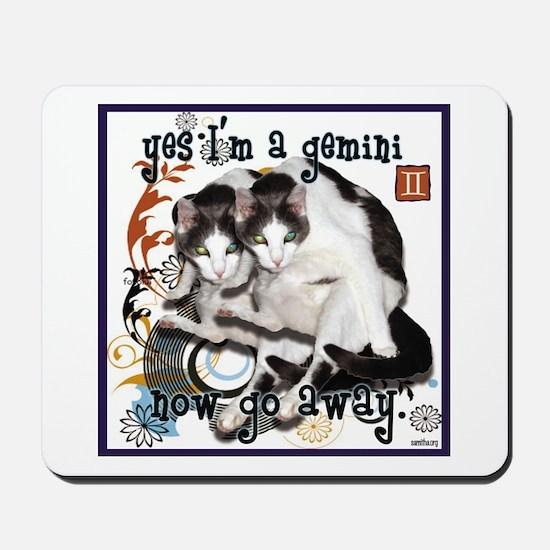 Cat Gemini Mousepad