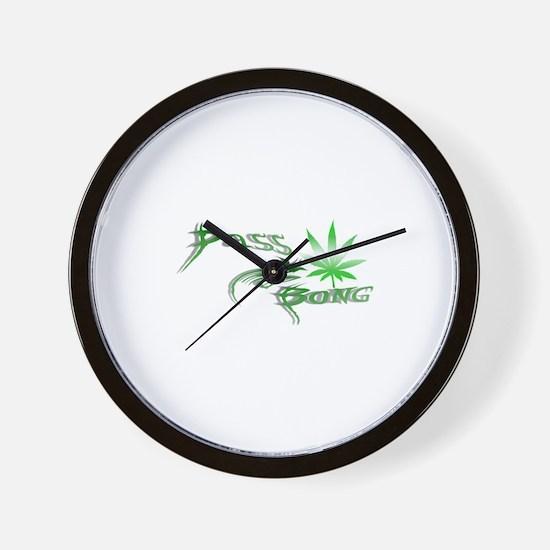 Pass The Bong Wall Clock