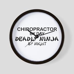 Chiropractor Deadly Ninja Wall Clock