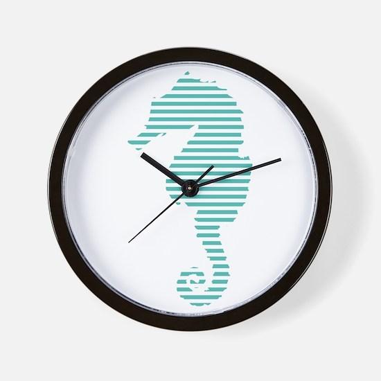 seahorse stripes Wall Clock