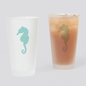 seahorse stripes Drinking Glass