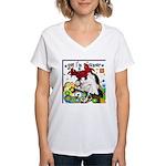 Cat Cancer Women's V-Neck T-Shirt