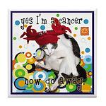 Cat Cancer Tile Coaster