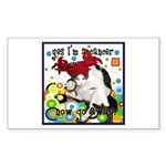 Cat Cancer Sticker (Rectangle)