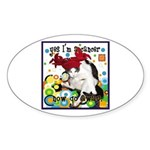 Cat Cancer Sticker (Oval)