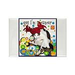 Cat Cancer Rectangle Magnet (100 pack)