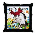 Cat Cancer Throw Pillow