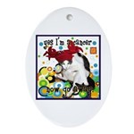 Cat Cancer Ornament (Oval)