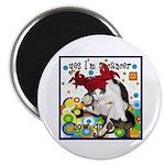 """Cat Cancer 2.25"""" Magnet (100 pack)"""