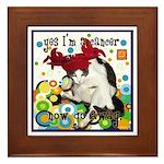 Cat Cancer Framed Tile