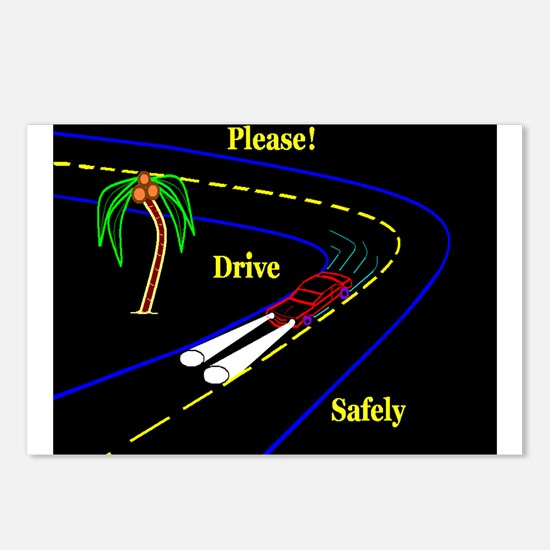 PLEASE! DRVE SAFELY Postcards (Package of 8)