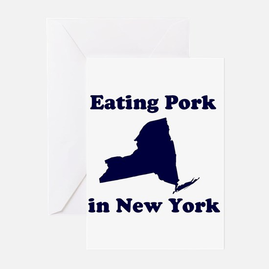 Eating Pork in New York Greeting Cards (Package of