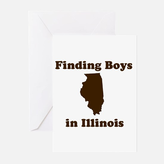 Finding Boys in Illinois Greeting Cards (Package o