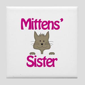 Mittens Sister Tile Coaster