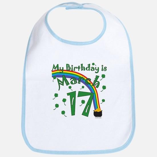 St. Patrick's Day March 17th Birthday Bib