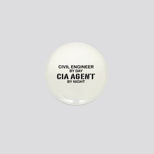 Civil Engineer CIA Agent Mini Button